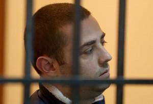 XHUVANI DENOHET ME 35 VJET BURG - Kostandin Xhuvani, 26 vjec, i akuzuar per vrasjen e 4 personave ne nje lokal prane rruges se Elbasanit, gjate nje seance gjyqesore ne Gjykaten e Tiranes, ku eshte dhene vendimi per denimin e tij me 35 vjet burg./r/n/r/nSESSION FOR XHUVANI - Kostandin Xhuvani, 26 years old, accused of killing four people in a bar, during a hearing at the Court of Tirana.