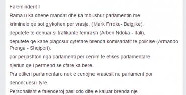 Shkëlzen Berisha falenderon Ramën…
