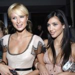 Paris Hilton (L) and Kimberly Kardashian attend the international launch event to unveil the new image of Dom Perignon Rose Vintage 1996 by [Karl Lagerfeld], in Beverly Hills, California, June 2, 2006. - RTXOONO