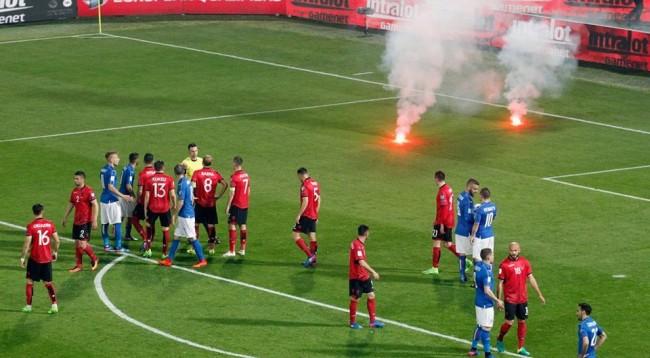 Ndërprerja e ndeshjes  penalizon Shqipërinë