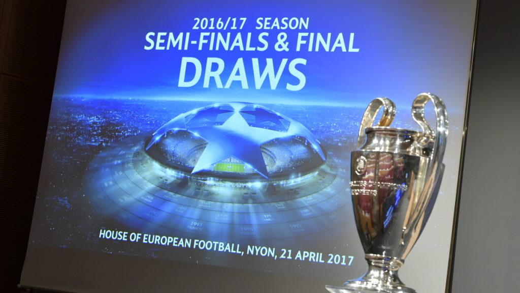 A general view prior to the UEFA Champions League 2016/17 Semi-final Draw at the UEFA headquarters, The House of European Football on April 21, 2017 in Nyon, Switzerland.