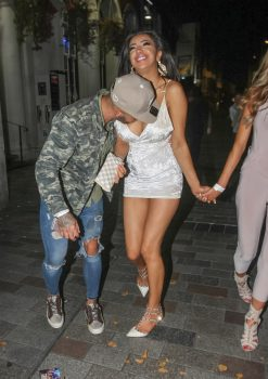 Picture Shows: Ashley Cain, Chloe Khan September 25, 2016 **MINIMUM WEB FEE ¿350** 'Ex On The Beach' star Ashley Cain celebrates his birthday with girlfriend and ex 'Big Brother' star Chloe Khan at Gallery Nightclub in Maidstone, England, UK. **MINIMUM WEB FEE ¿350** Exclusive All round WORLDWIDE RIGHTS Pictures by : FameFlynet UK ¿ 2016 Tel : +44 (0)20 3551 5049 Email : info@fameflynet.uk.com