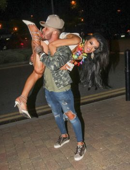 Picture Shows: Chloe Khan, Ashley Cain September 25, 2016 **MINIMUM WEB FEE ¿350** 'Ex On The Beach' star Ashley Cain celebrates his birthday with girlfriend and ex 'Big Brother' star Chloe Khan at Gallery Nightclub in Maidstone, England, UK. **MINIMUM WEB FEE ¿350** Exclusive All round WORLDWIDE RIGHTS Pictures by : FameFlynet UK ¿ 2016 Tel : +44 (0)20 3551 5049 Email : info@fameflynet.uk.com