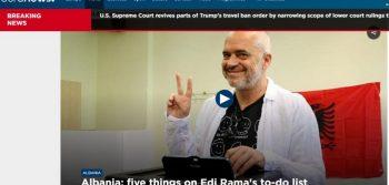 Mediat e huaja jehone fitores së Edi Ramës